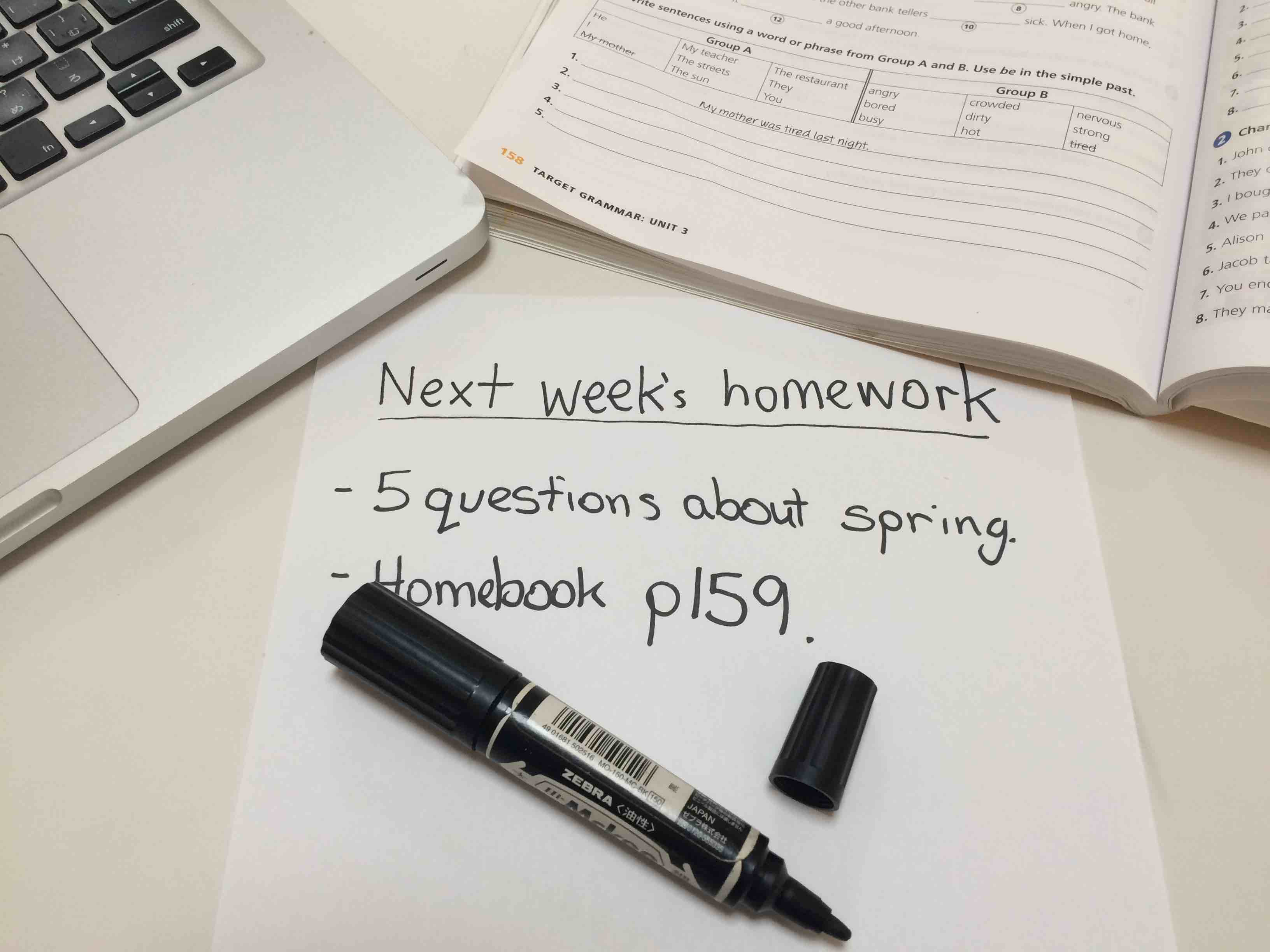 This week`s homework